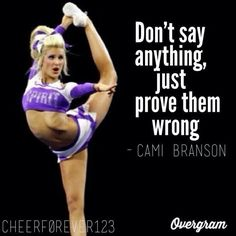 Competitive cheer  Quote I also do competitive cheer so fun when you get first it's like you own the world