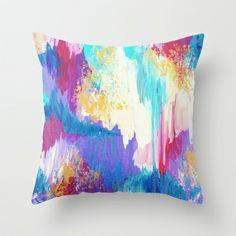 Sweet Dreams, whimsical fine art abstract throw pillow ikat chevron pretty feminine toss cushion home decor accessories, by Ebi Emporium