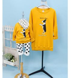 QZZ093  Autumn and winter NEW mother and daught clothes Long sleeved sweater soft fabrics family clothing