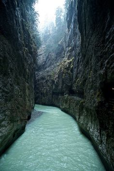 Aar Gorge near Meiringen, Switzerland.