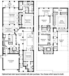 Plan W36818jg Narrow Lot Courtyard Home E Architectural Design ...