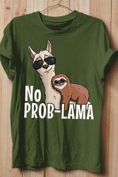 c7ce0b072 Ein schickes Shirt für alle wahren Lama Fans und gechillten relaxten  Faultier Freaks. Lässige Tiere