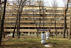 Narkomfin Building by Moisei Ginzburg. Currently under threat of demolition, the building is at the top of UNESCO's 'Endangered Buildings' list, and there is an international campaign to save it
