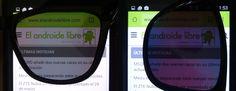 Gafas de sol polarizadas al utilizar la pantalla del móvil