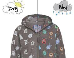e28de42cc8 COAT magic grey monsters that changes color in the rain! Magic Colour  Changing Raincoat Monster