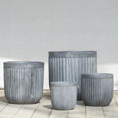 Fiberclay Barrel Pot in Garden All-Weather at Terrain
