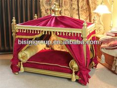 Luxury Buckingham Pet Bed/ European Style Pet Furniture/Beautiful High Quality Dog Cat Bed-BG800001