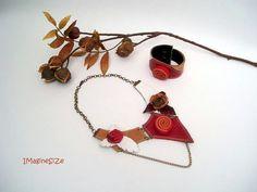 Collar de cuero joyas de mujer regalo para por ImaginariumSizeArt