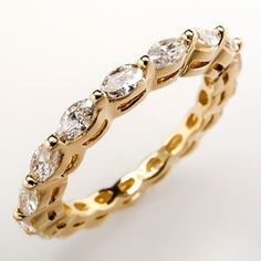 marquise 4 diamond band ring | Details about Marquise Diamond Eternity Band Wedding Ring Solid 18K ...