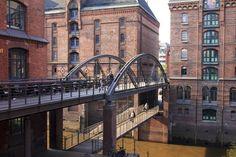 Brücken in Hamburg: Kibbelstegbrücke in der Speicherstadt