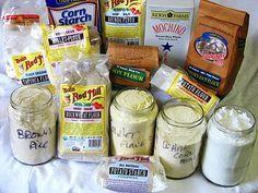 EXPLAINING GLUTEN FREE FLOURS:: *1~Rice Flour:(a)Brown Rice Flour (b)White Rice Flour (c)Sweet Rice Flour (Mochiko) *2~Potato flour: (a)Potato Flour (b)Potato starch *3~Buckwheat Flour *4~Quinoa Flour *5~Millet Flour *6~Garbanzo & Fava Bean Flours *7~Tapioca flour/starch