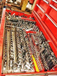 Snap on tool chest socket set drawer organising