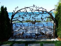 16 Awesome Gate Style That You Would Like to Copy Gate Design, Door Design, Iron Garden Gates, Types Of Art, Blacksmithing, Metal Jewelry, Art Deco, Architecture, Gate Ideas