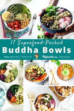 17 Superfood-Packed Buddha Bowls via can find Bowls recipe healthy clean eating and more on our Superfood-Packed Buddha Bowls via Superfood Salad, Superfood Recipes, Raw Food Recipes, Healthy Recipes, Candida Recipes, Advocare Recipes, Healthy Tacos, Healthy Foods To Eat, Healthy Eating
