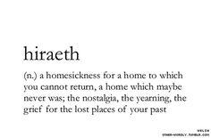 Hiraeth #wordoftheday