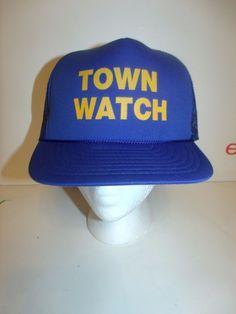 TOWN WATCH Trucker Hat Cap Dad Hat Funny  #Unbranded #TruckerHat