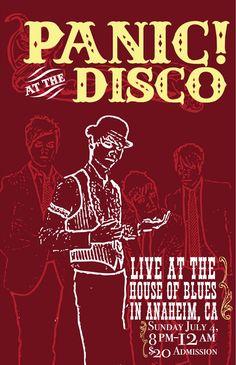 Panic at the Disco - House of Blues - Mini Print