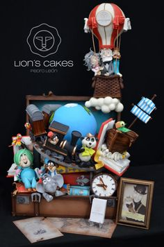 "Jules Vernes ""Around the World in 80 Days"" by LIONS CAKES PEDRO LEON"