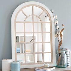 Specchio finestra bianco e  tonalità naturale 60x90cm ISIGNY