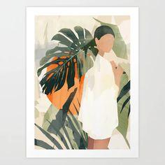 Jungle 3 Mini Art Print by thindesign Framed Art Prints, Canvas Prints, Tropical Art, 3 Arts, Art Inspo, Watercolor Art, Art Drawings, Illustration Art, Illustration Fashion