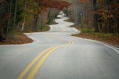 Door County curves! This is located between Gills Rock and North Port in Door County, WI.