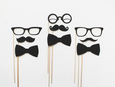 Suite and Tie Photo Booth Props Black Tie by LittleRetreats