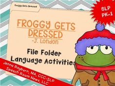 Froggy Gets Dressed Coloring Page Reading Language Arts
