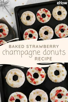 These strawberry champagne donuts are decadent, sweet and pair perfectly with champagne glaze. Plus, since they're baked, you won't have to deal with a greasy mess!