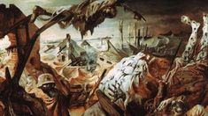 The Unknown Fate of The Painting That Was Too Dangerous For Hitler Otto Dix's painting, 'The Trench,' which graphically showed the horrors of World War I, featured in an exhibition of works the Nazis deemed 'degenerate.' Then it went missing. World War I, Old World, Degenerate Art, Working Drawing, People Art, Triptych, Various Artists, Surreal Art, Contemporary Artists