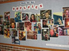 Looking for the best ideas for reading bulletin boards? We've rounded up some of our favorite reading bulletin boards from around the web, including seasonal, punny, and tech-inspired ideas. Library Week, Teen Library, Library Boards, Library Lessons, Library Ideas, Library Page, School Library Displays, Middle School Libraries, Elementary Library