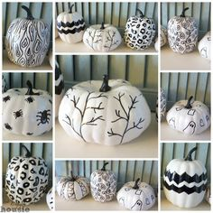 Black and White Hand Sketched Sharpie Pumpkins at thehappyhousie.com-11