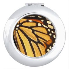 Monarch Butterfly Abstract Compact Mirror