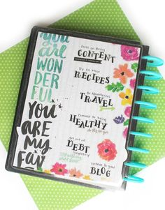 2017 Vision Board w/ The Happy Planner® custom cover pack DIY 2017 Vision Board w/ The Happy Planner® custom cover pack by mambi Design Team member Katie Barton Planner Layout, Life Planner, Happy Planner, Planner Ideas, Health Planner, Planner Supplies, Best Planners, Day Planners, Creating A Vision Board
