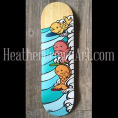MAHALO to the Wyland Gallery Waikiki Hawaii for hosting my art show last night! Mahalo to the great staff and everyone who came out to make it a huge success! Here was one of my favorite originals from the night that sold. Wishing you all a BEAUTIFUL weekend! #heatherbrown #surfart #skateboardart #hawaiiart