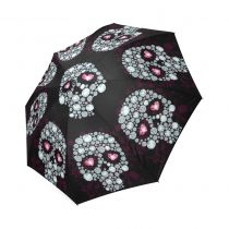 Custom Cool dinosaurs with moon Compact Travel Windproof Rainproof Foldable Umbrella