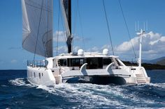 Boats for Sale Catamaran Design, Sailing Catamaran, Yacht Boat, Sailing Ships, Cool Boats, Used Boats, Saint Tropez, Sailboat Living, Classic Yachts