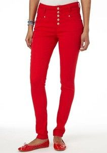BRITT BLUE SKINNY JEANS 00 1 2 XS colored fit denim turquoise nwt ...