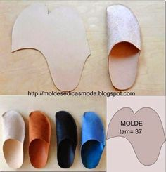 SLIPPER MOLD EASY TO DO ~ Molds Fashion for Measure great for guest slippers making them in a different fabric so that its washable.