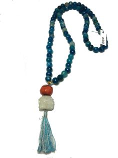 boho chic  Hazen Jewelry tassel necklace available at www.adelelexington.com/store