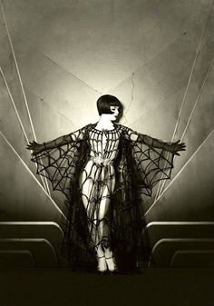 This is not Louise Brooks, it's modern burlesque dancer Vicky Butterfly