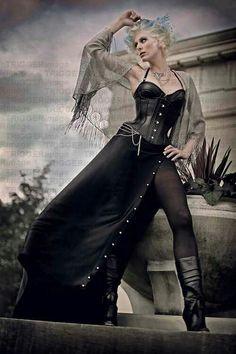 Black corset dress  #SteamPUNK ☮k☮