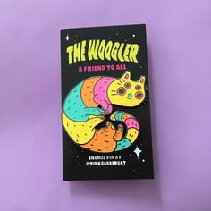 The Woogler is a cat from space and a friend to all.This pin is hard enamel, 2 inches, glittery, and has 2 rubber pin backs Kawaii Accessories, Cool Pins, Space Cat, Cutest Thing Ever, Pin And Patches, Big And Beautiful, Love Is All, Color Schemes, Handmade Items