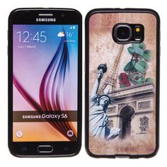 Eiffel Tower / Statue of Liberty 3D Hologram TPU phone case skin for Samsung Galaxy S6