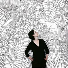 my work and i wallpainting and mural Artist Lena Petersen www.lenapetersen.de