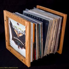 Lecube solid hardwood vinyl lp storage. by lecubecoza on Etsy