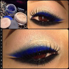 """@Marlena Stell   @Marlena Stell  @Marlena Stell    Eyeshadows in """"Shimma Shimma""""  """"Neptune""""   And """"Stealth""""  Pigment in """"New Years Eve""""  Gel liner in """"Electric""""   Lashes are from   @flutterlashesinc   @flutterlashesinc   #glamtrashmakeup - @glam_trash_mua- #webstagram"""