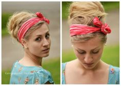 Taming Rapunzel | The blog: Scarf with messy bun