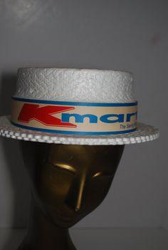 9c0a055c845 vintage 70s kmart styrofoam barbarshop hat by dawnsdivinefinds