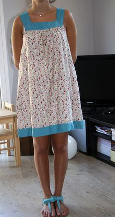 Petite robe tissu liberty