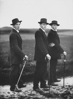 August Sander, 'Three Farmers on the way to a Dance, 1913